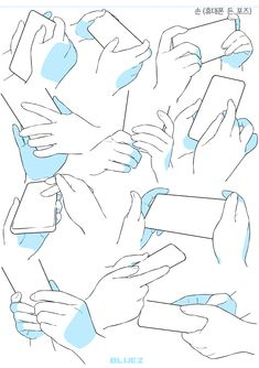 휴대폰을 든 손 포즈 자료입니다~! #제미있는자료참고#자료참고#손#손드로잉#손포즈#폰든손#블루젯#블루젯만화학원 Hand Drawing Reference, Drawing Reference Poses, Drawing Base, Manga Drawing, Poses References, Anime Drawings Sketches, Digital Art Tutorial, Art Poses, Anatomy Art