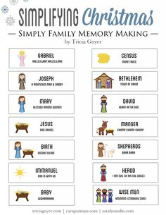 Free Christmas story printable to read through with your family this Christmas! Download the story and sound effect key here and read the Christmas story as a family.
