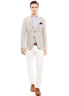 c0e73a95c9875 Slim-fit partially lined textured cotton-blend blazer from the casual  collection. Lookastic For Men
