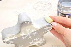 Создаём новогодние украшения Снежинку и Ёлочку из бетона - Ярмарка Мастеров - ручная работа, handmade
