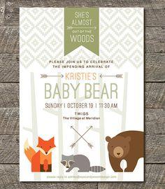 Woodlands Animal Baby Shower Invitation