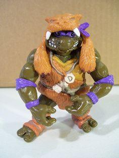 Caveman Donatello Teenage Mutant Ninja Turtles Vintage Action Figure, 1993 Playmates, TMNT