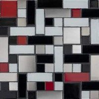 The hallmark of Susan Jablon is creating unique glass mosaic tile design and blends. Design your very own glass tile blends with our Custom Mosaic Designer. Grey Mosaic Tiles, Red Tiles, Mosaic Glass, Black Tiles, Kitchen Redo, Kitchen Backsplash, Kitchen Ideas, Kitchen Tips, Black Backsplash