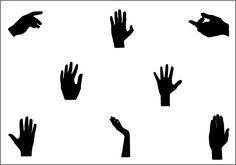 Hands Silhouette Vector Download from here - Silhouettes Clip ArtSilhouette Clip Art