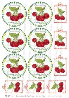 Circle jam label raspberry jam label printable mason by Pinturicon