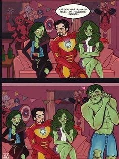 Aw, Tony. Hulk is so touched LOL