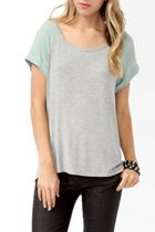 in stores now: forever 21 woven raglan sleeve top
