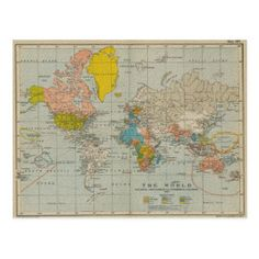 Credit Card | Zazzle.com Poster Art, World Map Poster, Vintage Postcards, Vintage World Maps, Vintage Travel, World Map Fabric, Old World Maps, World Map Canvas, Romantic Roses