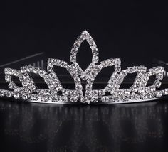 $3.97 Grain Form Shape Shiny Rhinestone Girl Wedding Prom Tiara Crown Headband #Jewelrygift #eozy