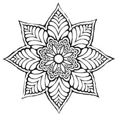 Flower Designs Coloring Pages Lovely Flower Mandala ღtrish W Mandala Art, Mandalas Painting, Mandalas Drawing, Mandala Coloring Pages, Mandala Pattern, Zentangle Patterns, Coloring Book Pages, Pattern Art, Art Patterns