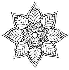 Flower mandala  . . . .   ღTrish W ~ http://www.pinterest.com/trishw/  . . . .   #doodle #pattern