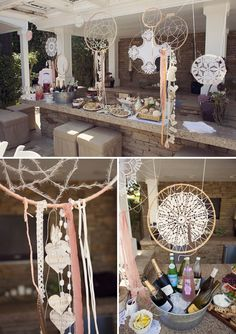 I love the handmade dream catchers! Steven's family is native american so it might be a neat way to incorporate that history!