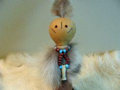Bobcat Totem , Spirit Person , Animal Totem , Gourd Art , Spiritual Tool , Gourd Doll , Bobcat Medicine , Hand Painted Gourd , Totem Art  by SpeaksWithAncestors, $50.00 USD