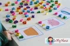 In My World....Preschool Letter P CVC Phoneme Segmentation Cards