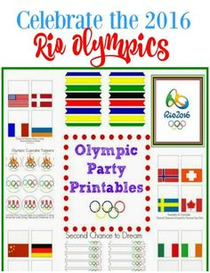 Enjoy the Olympics with your family and friends with these FREE festive Rio Olympic Party Printables.