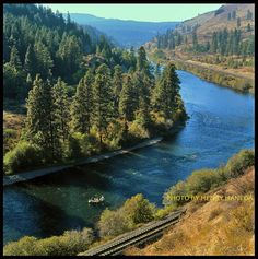 """My novel """"Promise"""" leads to an awareness of this. Yakima River by Henry Haneda. Most of the canyon is not nearly this verdant. Yakima River, Yakima Valley, River I, Living In Washington State, America Washington, Wonderful Places, Beautiful Places, Time Goes Back, Evergreen State"""