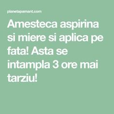 Amesteca aspirina si miere si aplica pe fata! Asta se intampla 3 ore mai tarziu! Beauty Secrets, Beauty Hacks, Face Home, Pavlova, Alter, Metabolism, Good To Know, Home Remedies, Oreo