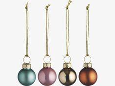 ANNGARSK METALLICS Glass Set of 40 mini metallic baubles - HabitatUK