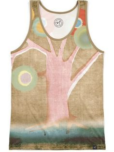 Colorful Old Tree by Rupydetequila - Men's Echo Beach Tank - $45.00