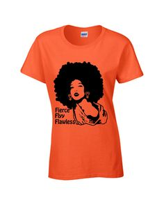 Afro Natural Tshirt Flyy and Fierce Afro by NewTribeNewTradition, $25.00