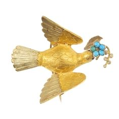 A late 19th century gem-set bird brooch