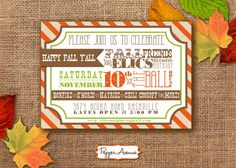 Welcome to Pepper Avenue! This rustic Fall Festival Printable PDF Party Invitation is perfect for that Autumn party youve been wanting to throw!