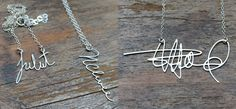 The personalized signature necklace is a great way of displaying your unique symbol to the world. Each necklace is custom made so you can wear yours or a...