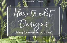 Learn to resize and edit embroidery designs with Floriani FTCU. Step by step written tutorials, photos, videos and pdf download.