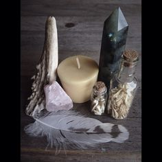 ∆ Sacred Space...The basic elements of an altar are just that, the elements! Include at least one item from fire, earth, air, and water along with your intention and allow your sacred space to evolve.