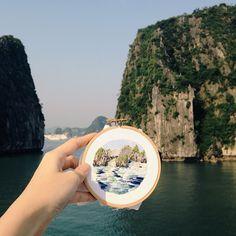 Teresa Lim #embroidery #landscape #art