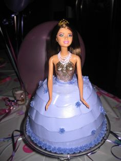 Barbie birthday cake. Barbie Birthday Cake, Cupcake Cakes, Cupcakes, Disney Princess, Desserts, Cupcake, Deserts, Dessert, Postres