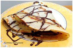 Χριστίνας....Μαγειρέματα!: Κρέπα Με Φυστικοβούτυρο, Αμύγδαλο Και Σοκολάτα! Pancakes, Sweets, Fruit, Ethnic Recipes, Food, Gummi Candy, Candy, Essen, Pancake