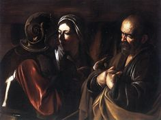 This is Caravaggio. He is not one of my favorites, but he is a sure fire gangster. He is revolutionary because of the drama he brought to his work through his use of light and dark. This one is titled, The Denial of Peter. I saw the original print at The Met this past weekend in New York, with my friend who told me what I just told you.