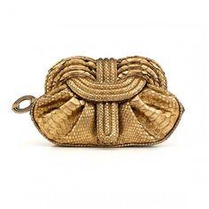 Lunar Gold Clutch, Python, Lara Bohinc, £940