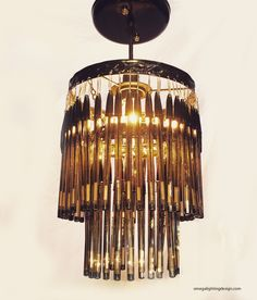 Bic Pen chandelier. Petite.