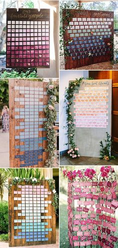 13 Unique Escort Card Display Ideas to Wow Your Guests- Ombre Wedding Place Cards Unique wedding escort cards ideas Escort Cards and Seating Displays Wedding Name, Wedding Places, Wedding Place Cards, Wedding Escort Card Ideas, Wedding Decor, Unique Wedding Reception Ideas, Wedding Signs, Creative Place Cards Wedding, Wedding Unique