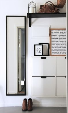 Might need more than a few of these, but def use shoes cupboards for storage in hallway space.