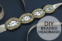 Inspired by the beaded headbands in our spring and summer catalogs, we've created a DIY beaded headband you can make at home!