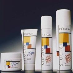 Remember when the L'Oreal Studio Line bottles looked like this? I remember having a gel from this line, and I discovered that gel just made my hair crunchy. I did love the gel bottle's design-Mondrian inspired. So clever. 1980s Childhood, My Childhood Memories, Sweet Memories, Childhood Images, School Memories, 80s Kids, Ol Days, Do You Remember, My Memory