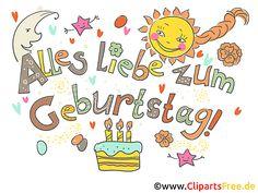 Geburtstag Cliparts kostenlos In China, Kitsch, Bilder Download, German English, Reality Check, Armin, Yellow Roses, Label Design, Clipart