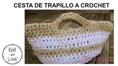 TUTORIAL CÓMO HACER CESTA CROCHET XXL TRAPILLO