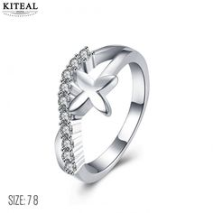 >> Click to Buy << 2017 newest silver plated rings xmas gift for women unique cross ring for women bague femme horloge #Affiliate