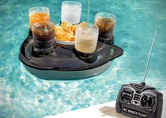 Remote Control Snack and Drink Pool Float | Bring the snacks and drinks right to you, without ever having to get out of your floating lounger.