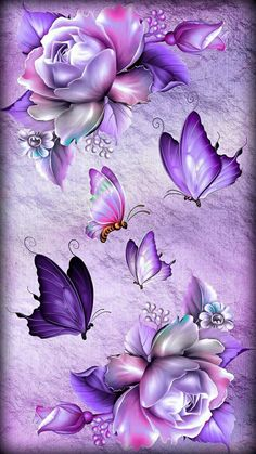 Search free wallpapers, ringtones and notifications on Zedge and personalize your phone to suit you. Flower Phone Wallpaper, Purple Wallpaper, Butterfly Wallpaper, Heart Wallpaper, Cute Wallpaper Backgrounds, Cellphone Wallpaper, Iphone Wallpaper, Monogram Wallpaper, Beautiful Flowers Wallpapers