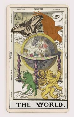 The World. My favourite tarot card. 'The Mystique Ephemera Tarot' - Oatmontien…