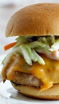 turkey burgers with blue cheese slaw more buffalo turkey burgers blue ...