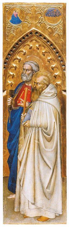 Giovanni da Milano - Polittico di Ognissanti: Santi Pietro e Benedetto - c. 1360-1365 - tempera e oro su tavola - Galleria degli Uffizi, Firenze