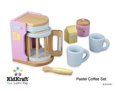 Coffee maker for play kitchen.