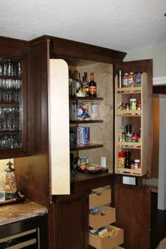 Kitchen Storage Space.  Can add spice racks and pull out shelves to your kitchen pantry cabinet