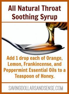 Living Essential Oils Homemade Throat Soothing Syrup helps relieve discomfort from hacking and helps aid in overall immunity.Homemade Throat Soothing Syrup helps relieve discomfort from hacking and helps aid in overall immunity. Homemade Essential Oils, Doterra Oils, Doterra Essential Oils, Essential Oil Blends, Doterra Blends, Yl Oils, Young Living Oils, Young Living Essential Oils, Oils For Sore Throat